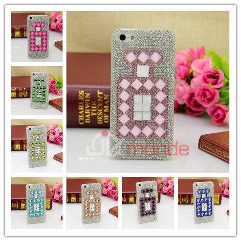 Coque/Etui Flacon de parfum avec strass pour iPhone 4/4S et iPhone 5/5S
